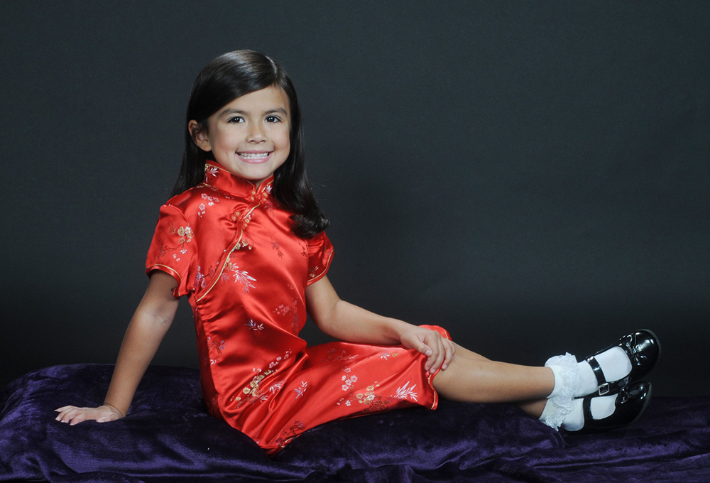 Little Girl in a Red Dress